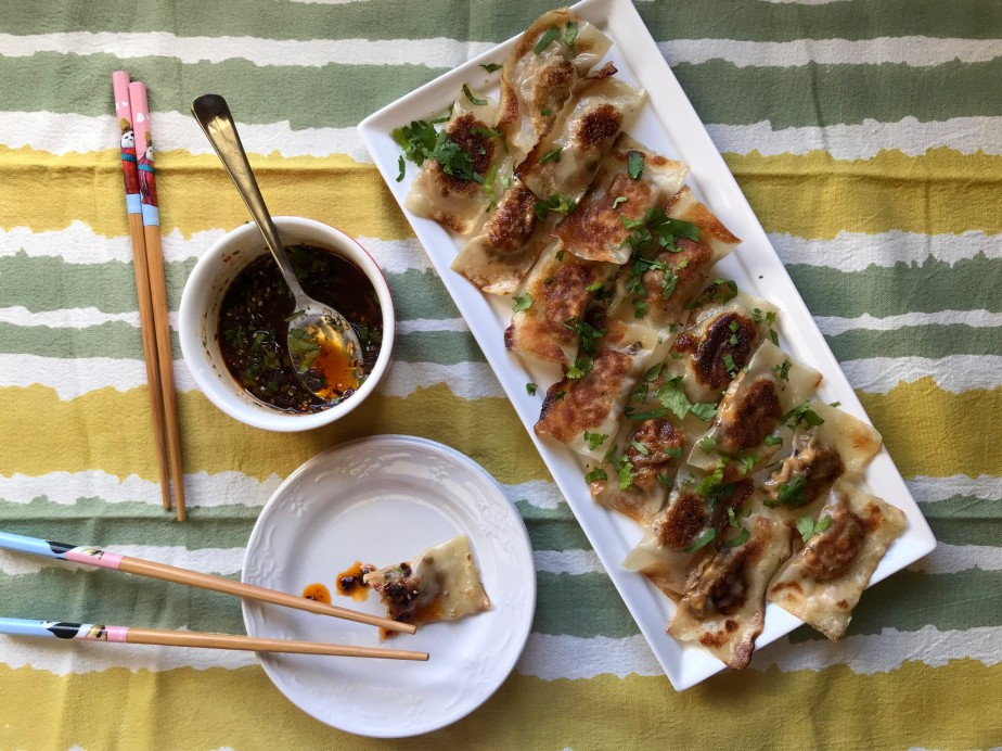 Leek and Tofu Potstickers