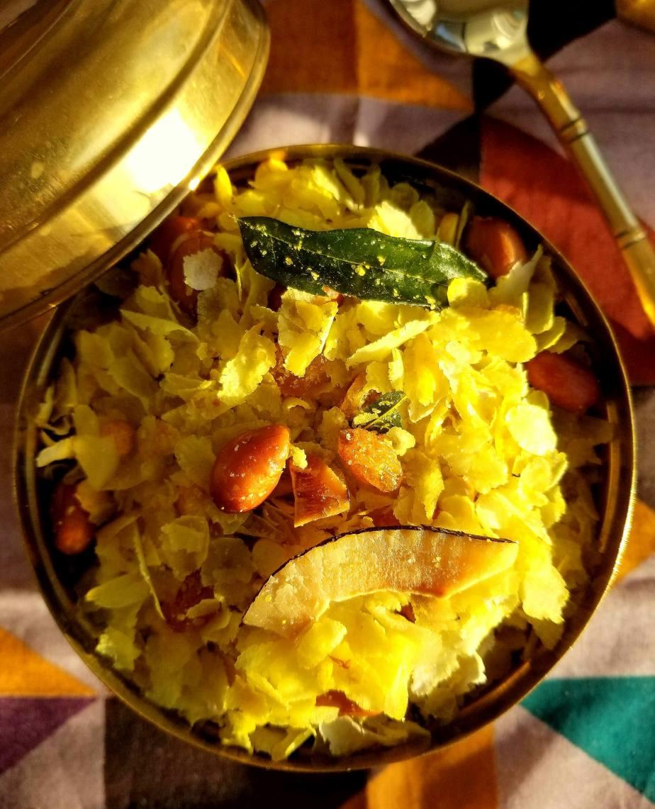 Pohyacha Chivda (savory ricesnack)