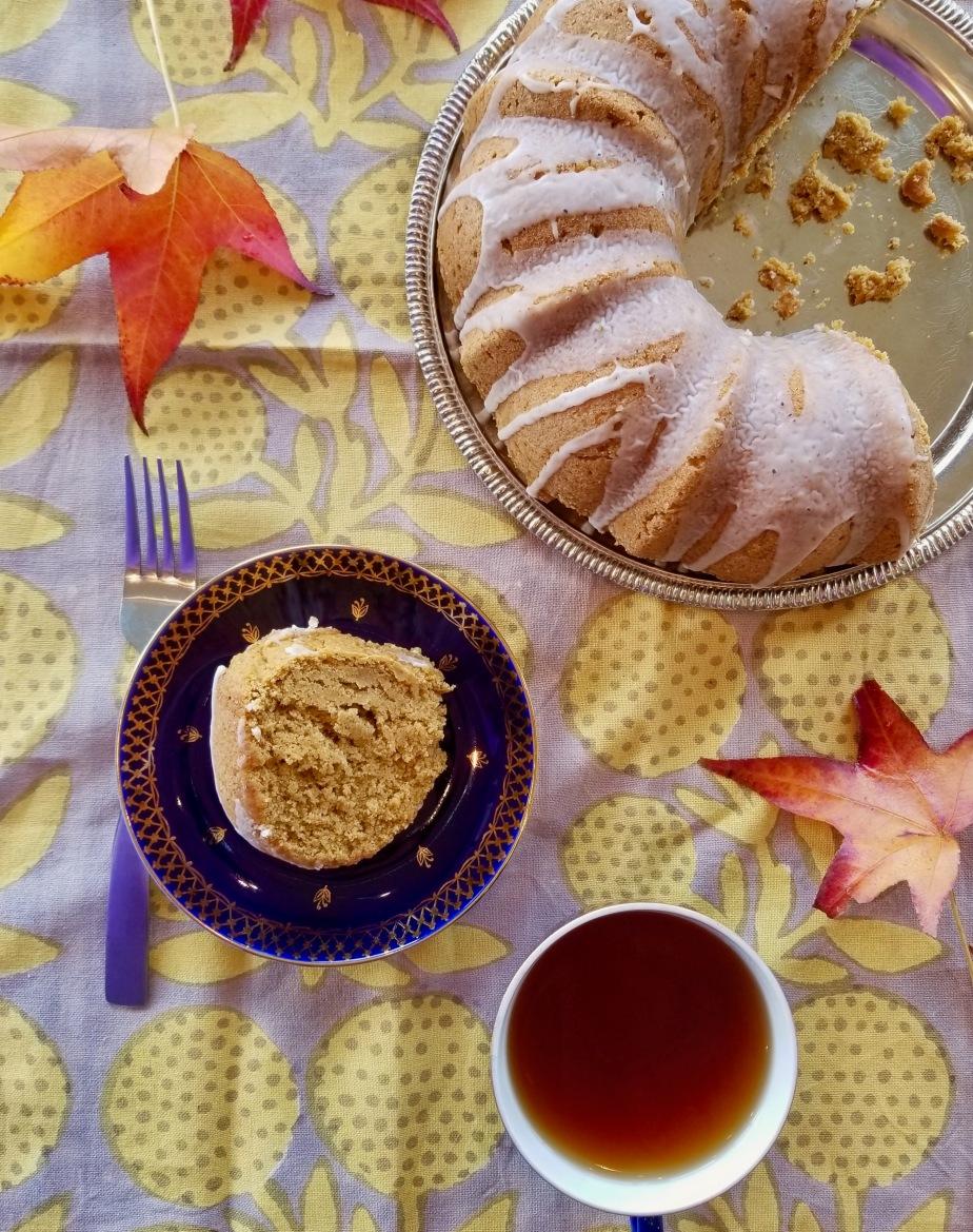 Vegan Chai-spice Pumpkin BundtCake