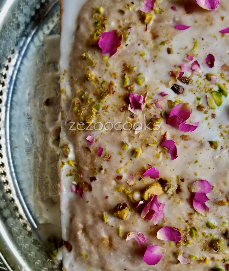 Vegan Rose and Pistachio Cake
