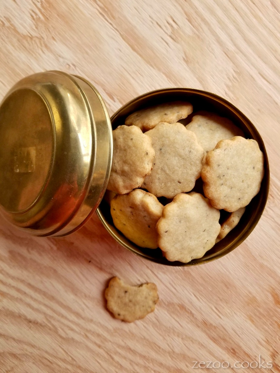 Savory Tea Biscuits (shortbread cookies with carom seeds)