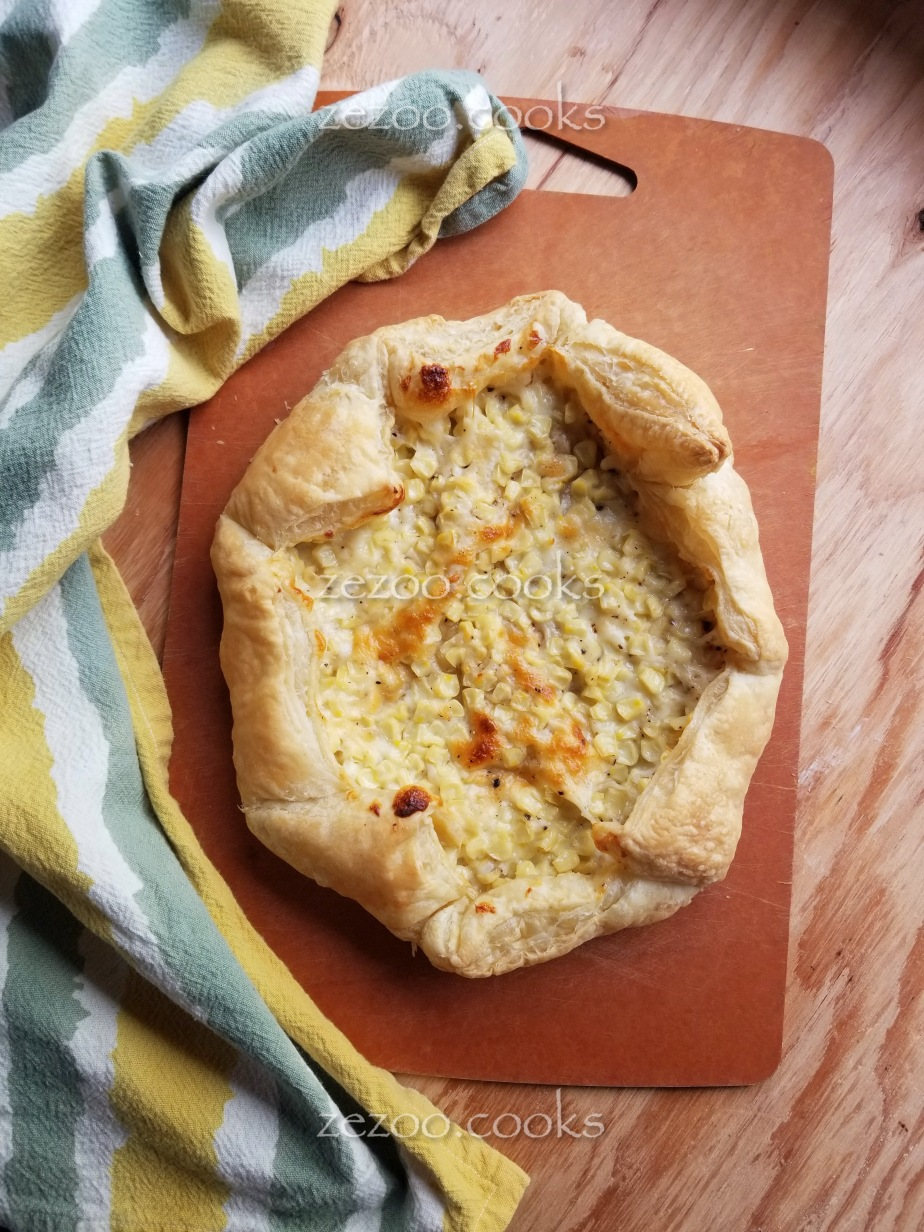 [for young chefs] Corn and Cheese Galette (Tart)